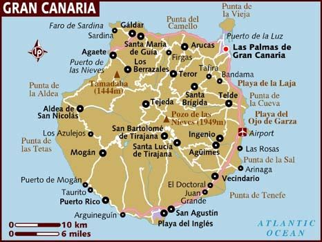 map of canary islands map of gran canaria