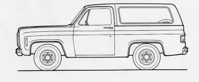 Chevy Blazer Coloring Pages Sketch Page sketch template