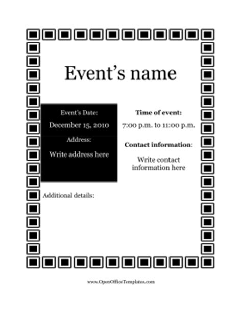 open office brochure templates flyer for events openoffice template