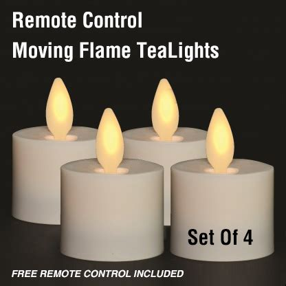 moving tea light candles remote moving tea lights set of 4 with free