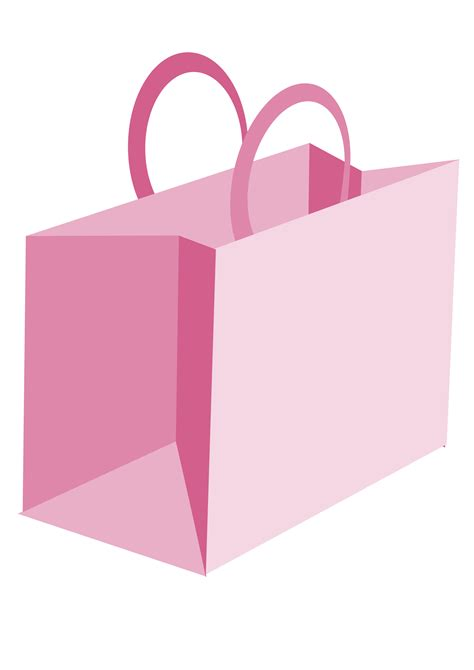 Bag For Pink pink shopping bag clipart clipart suggest