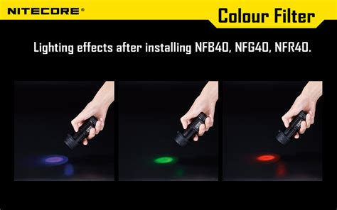 Promo Nitecore Beam Filter For Flashlights 25mm Nfd25 Black G5036 Kere colour filters 40mm nfg40 nfr40 nfb40 nfd40 r130