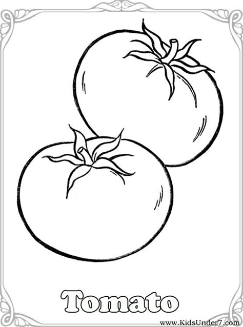 printable coloring sheets vegetables vegetable coloring pages kids under 7 vegetables