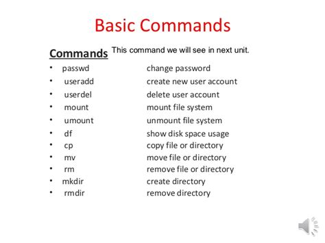 how to a basic commands linux command ppt