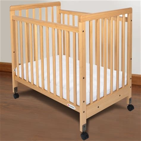 Foundations Baby Cribs Foundations Safetycraft Compact Fixed Side Slatted Crib In Free Shipping
