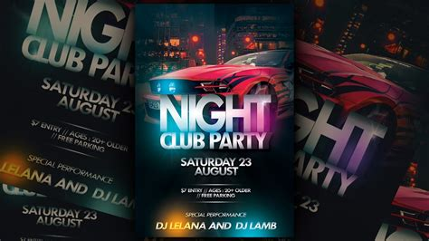 Party Flyer Templates For Photoshop