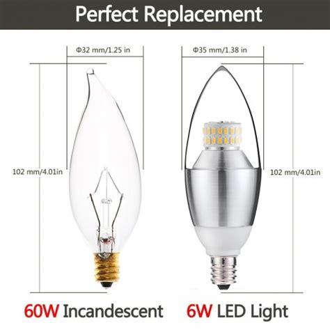 candelabra base led light bulb 60 watt 6 watt dimmable led chandelier bulb 60 watt incandescent