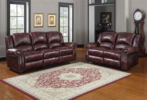 what colors go with burgundy couch homelegance quinn reclining sofa set burgundy polished
