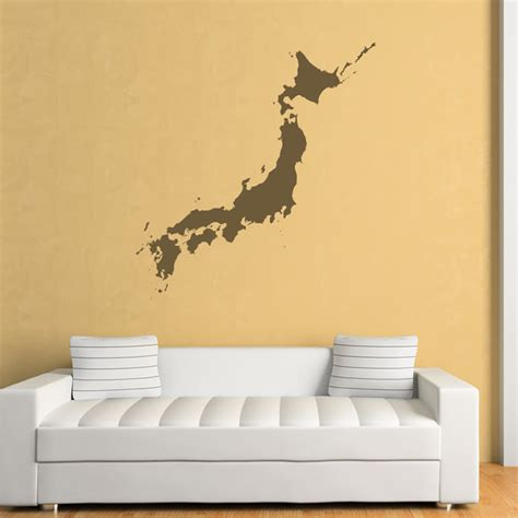 japanese wall stickers japan wall stickers map wall decal ebay