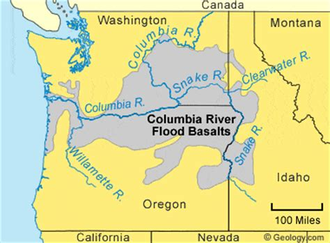 columbia river map usa basalt igneous rock pictures definition uses more