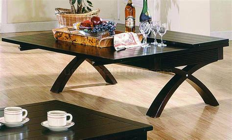 dark brown contemporary cocktail table wfold  table top