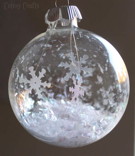 glass ball snowflake ornament cutesy crafts