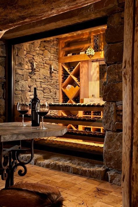 rustic wine room wine room ideas