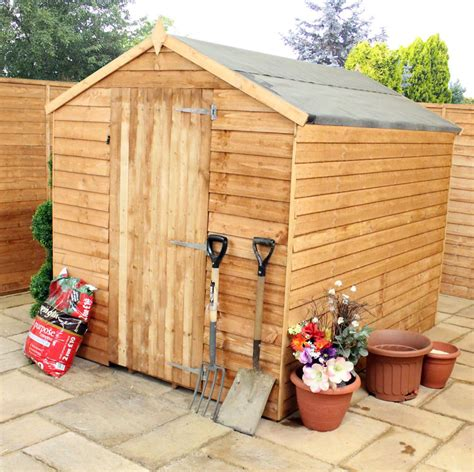 mercia budget 8 x 6 overlap apex wooden shed garden storage