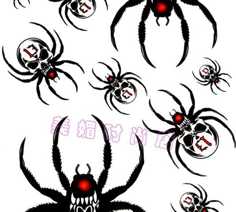 wicked tribal tattoos collection of 25 skull spider stencil