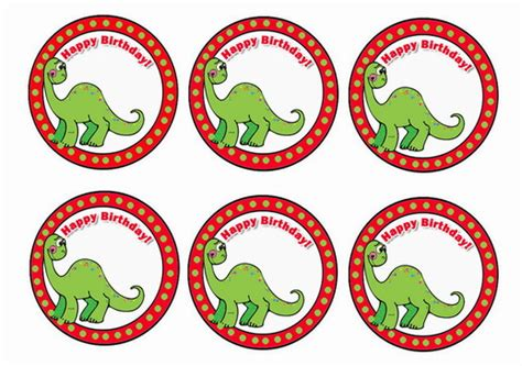 dinosaur cupcake toppers birthday printable