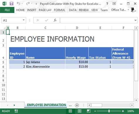 free payroll and pay stub template sample v m d com