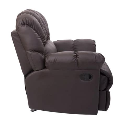 homcom pu leather rocking sofa chair recliner homcom pu leather rocking sofa chair recliner brown