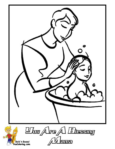lds coloring pages mothers day free lds clipart to color for primary children images