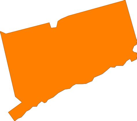 State Clipart connecticut state orange clip at clker vector clip royalty free