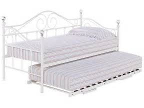 Daybed Frame With Trundle Metal Day Bed Daybed Frame And Trundle Guest Underbed Single 3ft Black White Ebay
