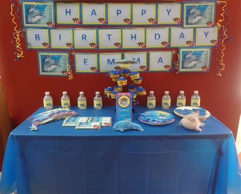 dolphins birthday party ideas photo    catch  party