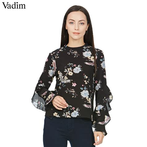 42678 Sweet Print Casual Top aliexpress buy sweet butterfly sleeve floral print shirt vintage stand collar