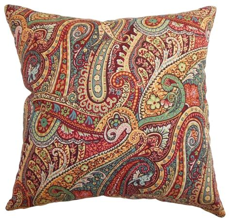 Paisley Throw Pillow by Wanda Paisley Pillow Traditional Decorative Pillows