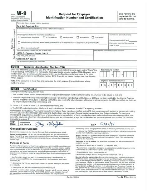 Downloads of trucking information - Best Yet Express W 9 Form Fillable Printable 2016