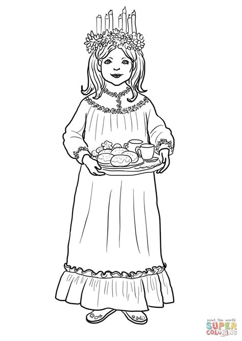 coloring pages for christmas in sweden saint lucy day coloring page free printable coloring pages