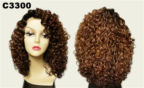 Curly Medium Wig tops c dekee synthetic lace front side part