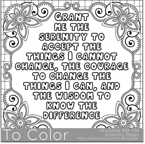 coloring pages for adults pdf serenity coloring page for grown ups this is a