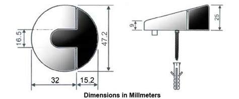 Door Stop Dimensions by Stainless Steel Modern Dome Floor Mount Door Stop Ahi