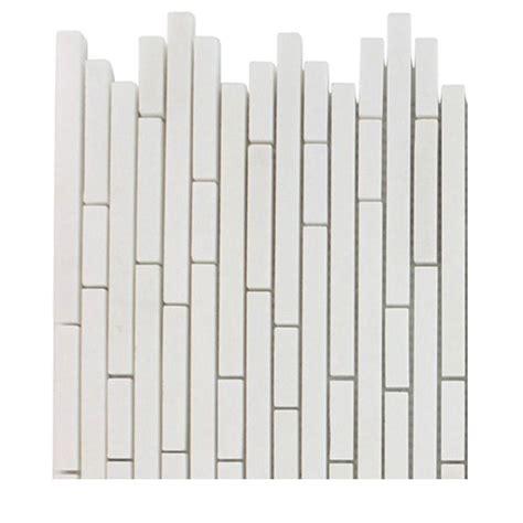 Random Pattern Mosaic Tile | splashback tile windsor 1 4 in x random white thassos