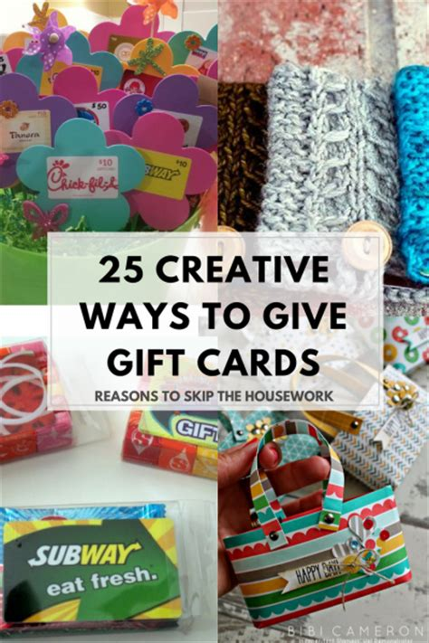 25 creative gift card holders reasons to skip the housework