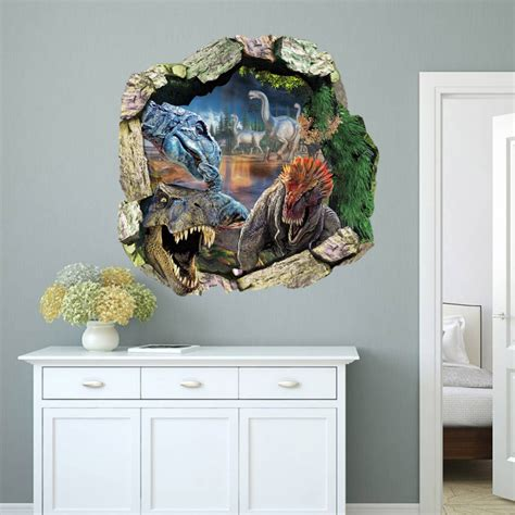 jurassic park wall stickers 3d dinosaur stickers for
