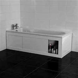 Bath Tub Shower Doors croydex unfold n fit white bath panel with lockable storage