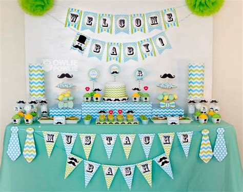 Mustache Baby Shower Decorations by Mustache Baby Shower Ideas