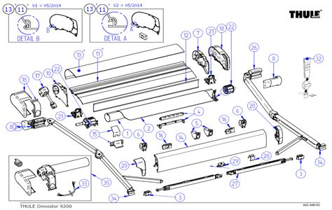 awning spare parts thule omnistor 9200 awning spare parts by rose awnings