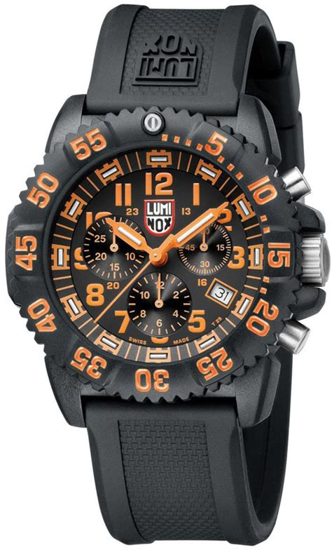 Swiss Army 3080 3 luminox luminox navy seal orange colormark chronograph