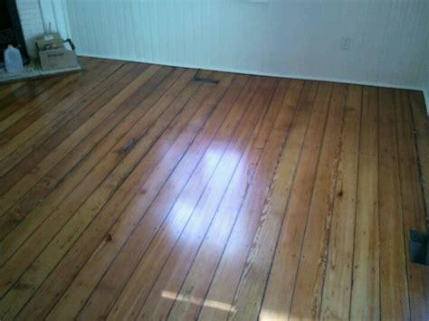 100 year old pine floors refinished using Bona Drifast