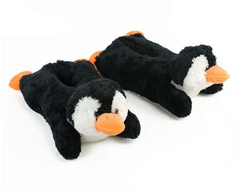Fuzzy Penguin Slippers Animal Slippers