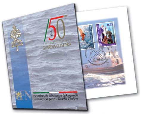ufficio numismatico vaticano vaticano francobolli per 150mo guardia costiera