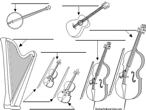 String Printables - label string instruments in education