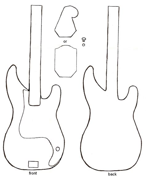 bass guitar template guitar free downloads and page borders on