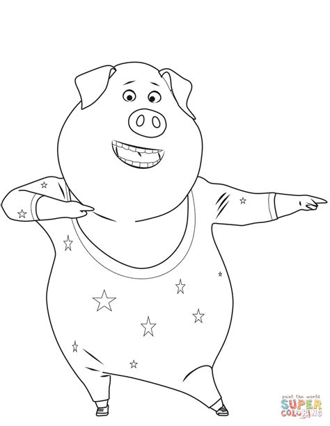 star dance coloring pages free coloring pages for kids gunter pig is dancing coloring page free printable