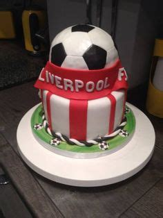 Liverpool Logo Mini Custom a liverpool football cake with logo and shirt