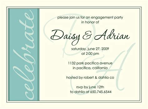 engagement invite templates engagement invite modern aqua