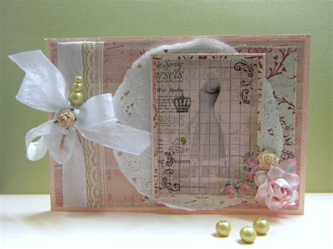 Handmade Cards Blogs - shabby chic dressform card the handmade card