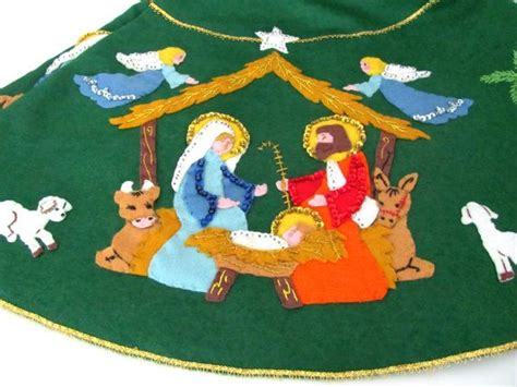 tree skirt jolly felt penguin vintage tree skirt 1970 s bucilla felt tree